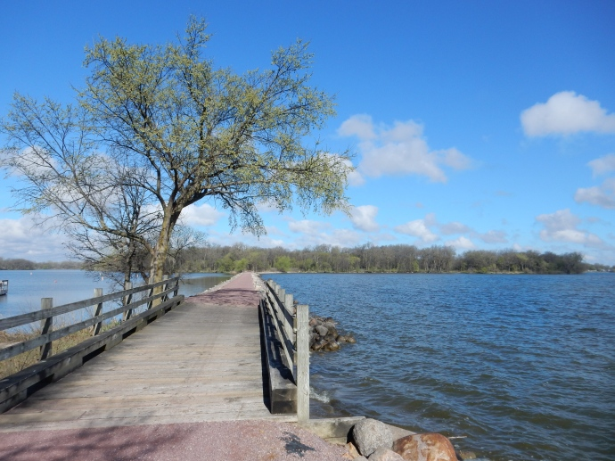 Causeway leading to Loon Island, part of Lake Shetek State Park