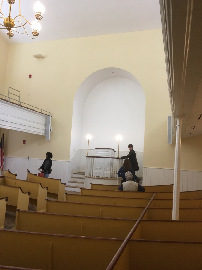 Interior of African Meeting House