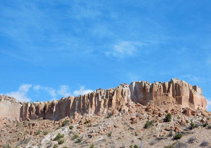 Driving to Valles Caldera