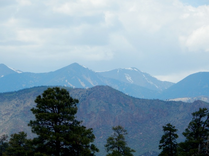 San Francisco Mountains at Flagstaff, AZ