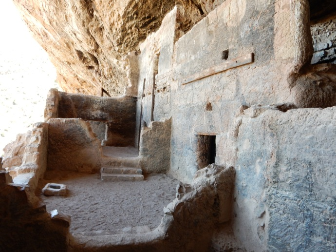 Part of the cliff dwellings at Tonto National Monument