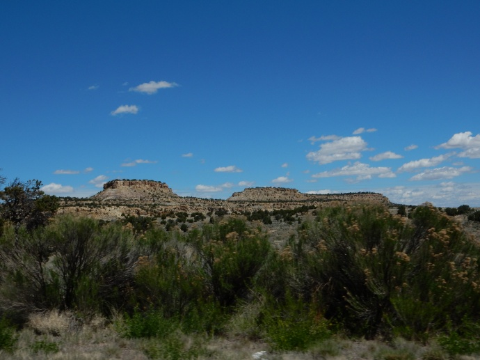 Along US 550 in New Mexico