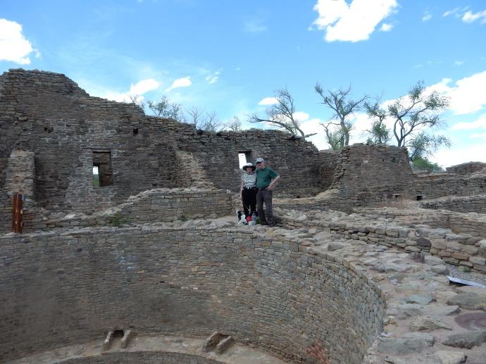 Jude and Ed at Aztec Ruins