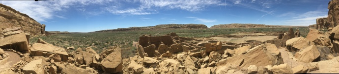 Panoramic view of Chaco Canyon