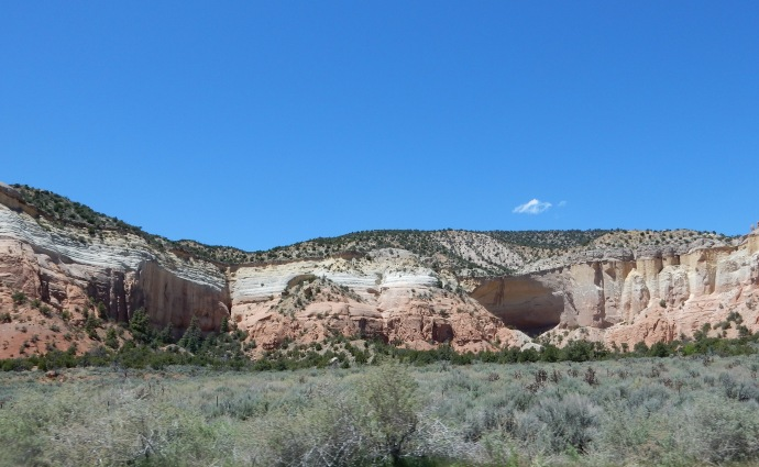 Echo Amphitheater rock formatiion in NM
