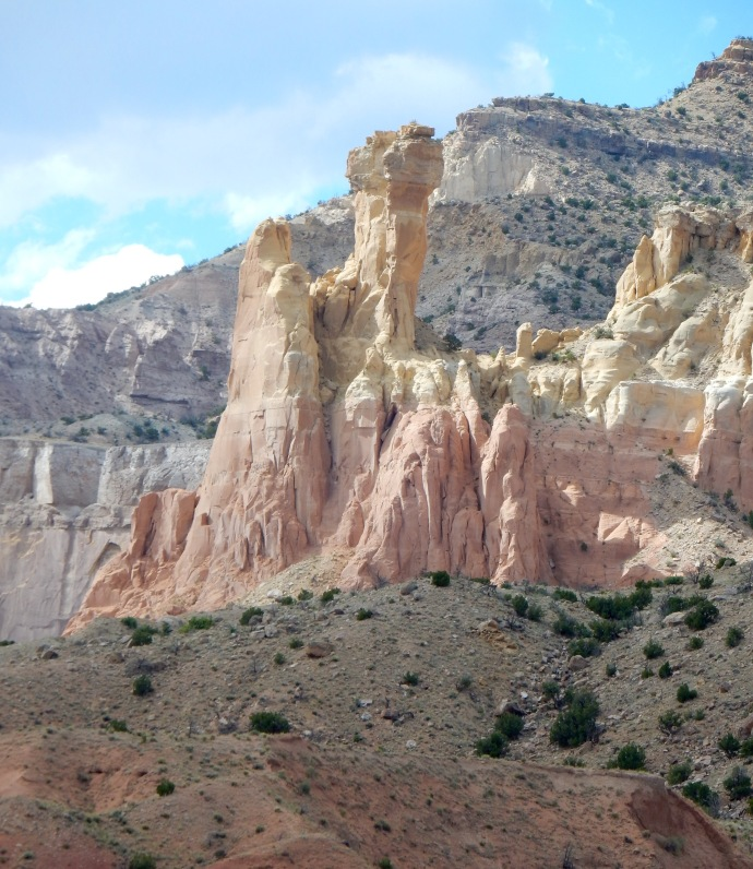 Rock formation around Ghost Ranch