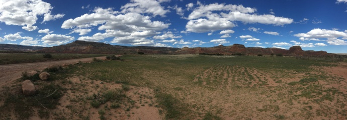 Panoramic view looking towards Ghost Ranch