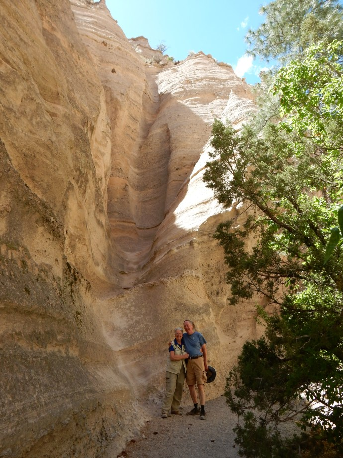 Ed and Chris in slot canyon at Kasha-Katuwe (tent rocks)