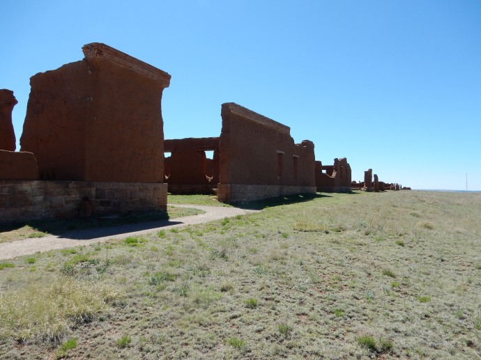 Walls of the storehouse area of Fort Union