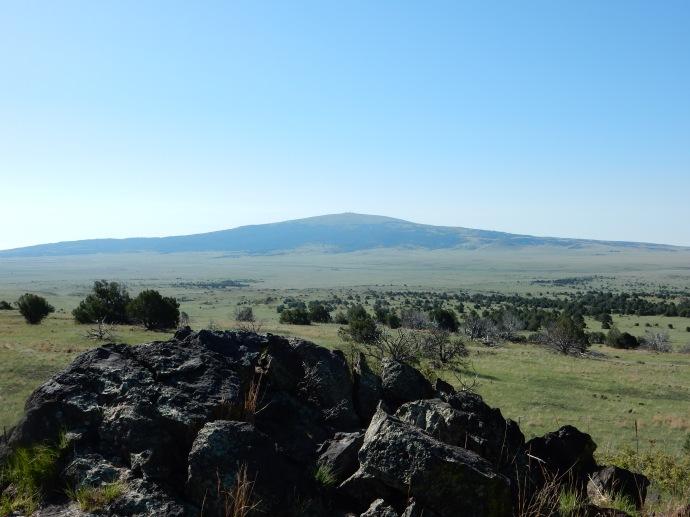 Lava boulders near Capulin