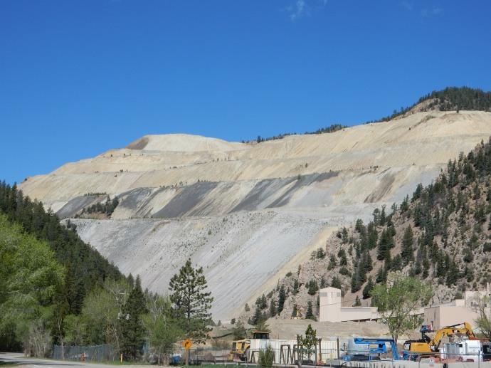 Molybdenum mining reclamation site