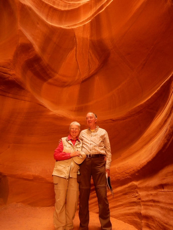 Ed and Chris at Upper Antelope Canyon