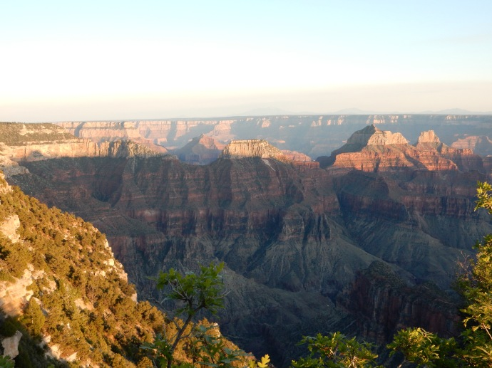 Grand Canyon close to dusk