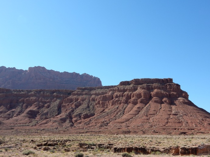 Driving to Navajo Bridge at the Colorado River