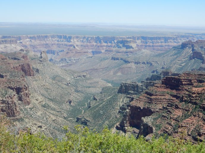 Grand Canyon view from Roosevelt Trail