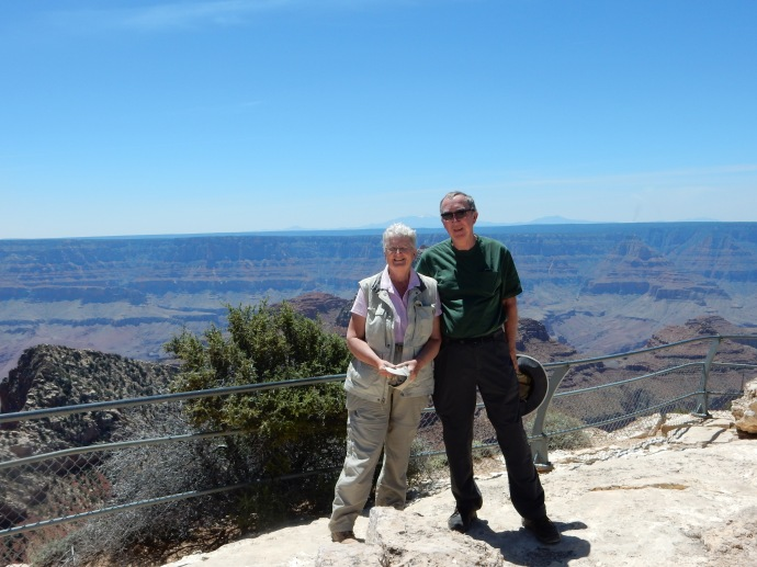 Chris and Ed at the North Rim of the Grand Canyon