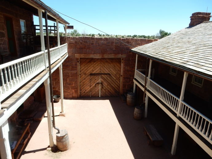 Interior court yard at Pipe Spring National Monument