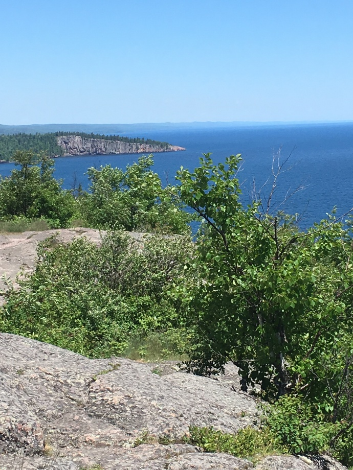 View of Lake Superior from Palisade Head near Tettegouche State Park on MN North Shore