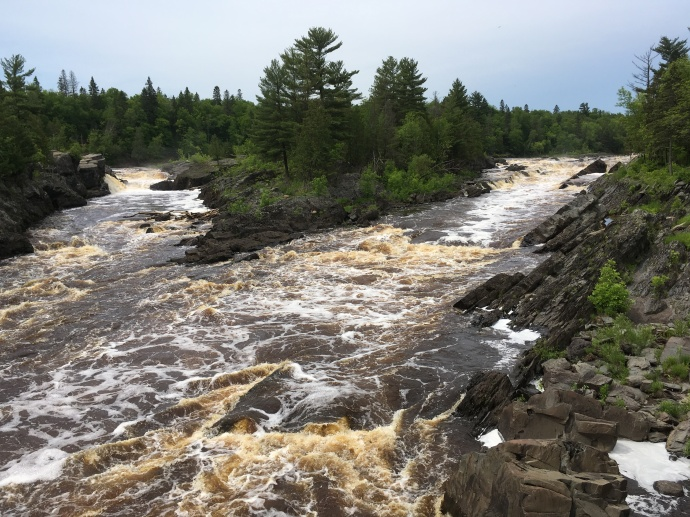 St. Louis RIver at Jay Cooke State Park Friday noon