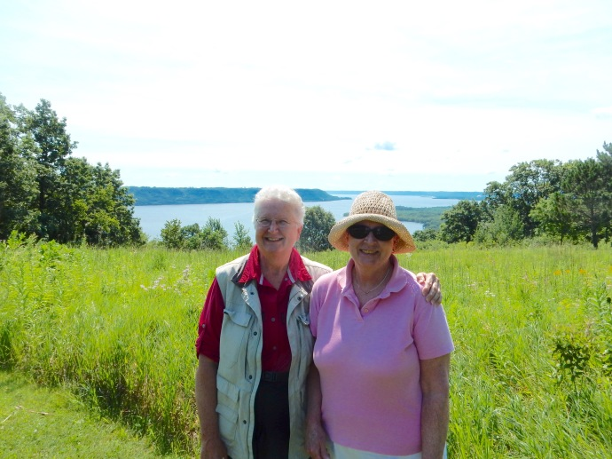 Chris and Kathy at Frontenac State Park along the Mississippi River