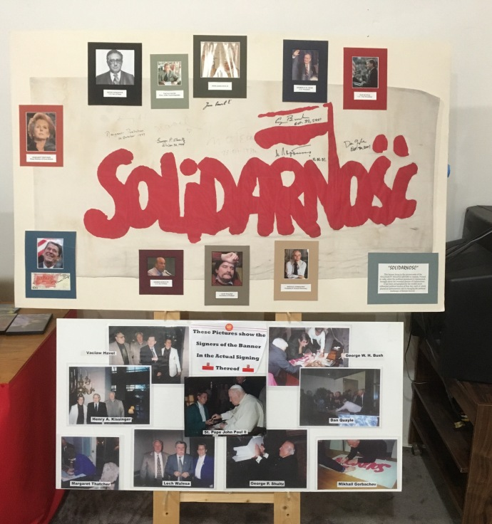 The Solidarity banner in the Polish Cultural Institute and Museum in Winona MN