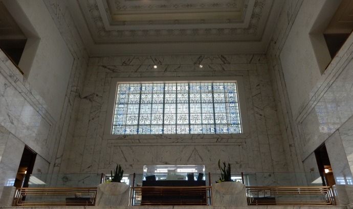 An interior view of Winona National Bank