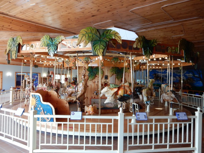 Carousel at LARK Toy in Kellogg MN