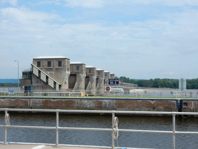 Lock and Dam Number 5 on the Mississippi River