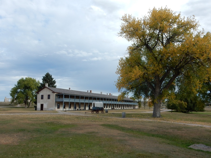 The barracks for the mounted infantry at Fort Laramie