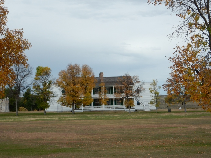 """""""Old Bedlam"""" the unmarried officers quarters at Fort Laramie-the oldest building in WY"""