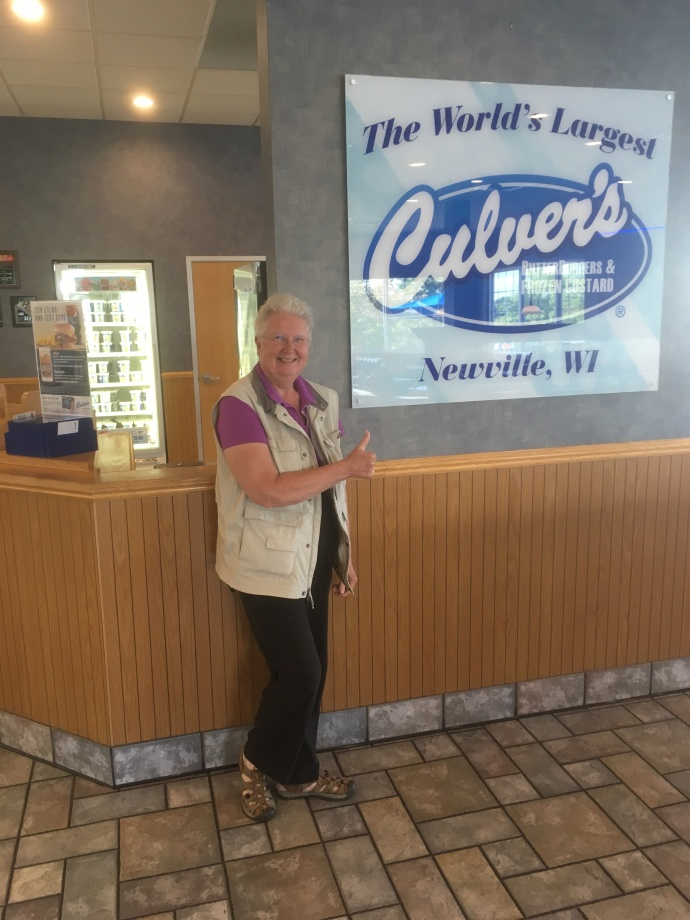 Lunch at the largest Culver's in the world