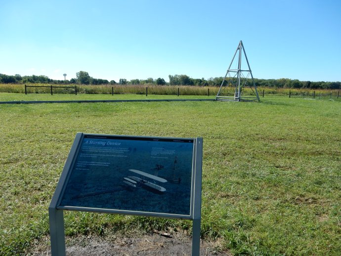 A catapult was used to get the first planes into the air.