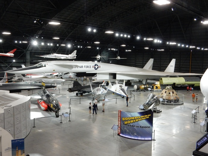 The large plane in the middle was nicknamed Valkyrie. It was a test plane and never made it into production.