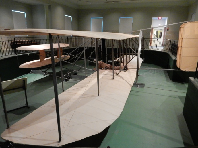 The actual Wright Flyer III in Carillon Park