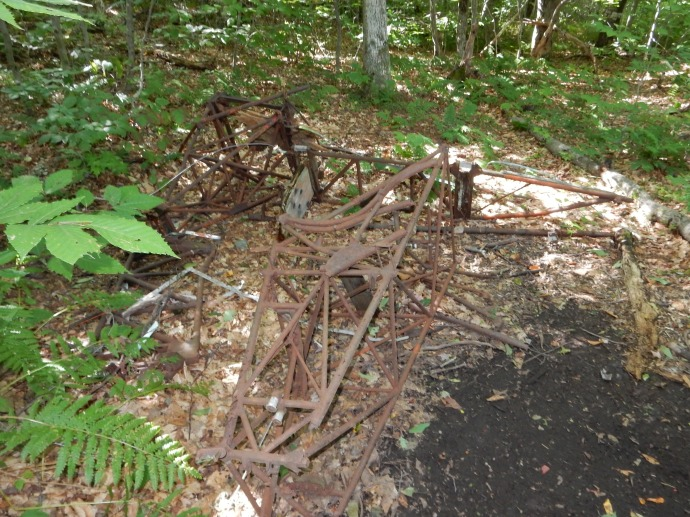 Plane crash debris on Rounds Rock Trail on Mount Greylock