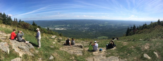 Panoramic view from Mount Greylock
