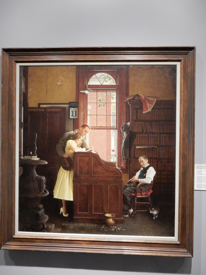 The Marriage License by Norman Rockwell