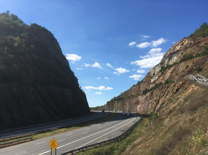 Driving through western Maryland's Sideling Hill