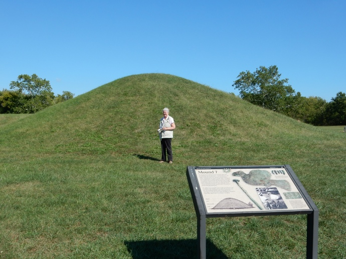 Chris at one of the mounds at Hopewell Culture
