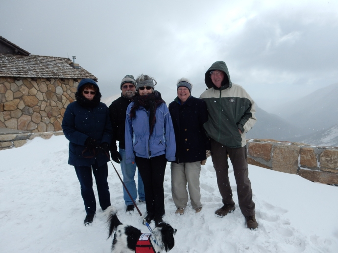 All six of us at the Alpine Visitor Center on Trail Ridge Road
