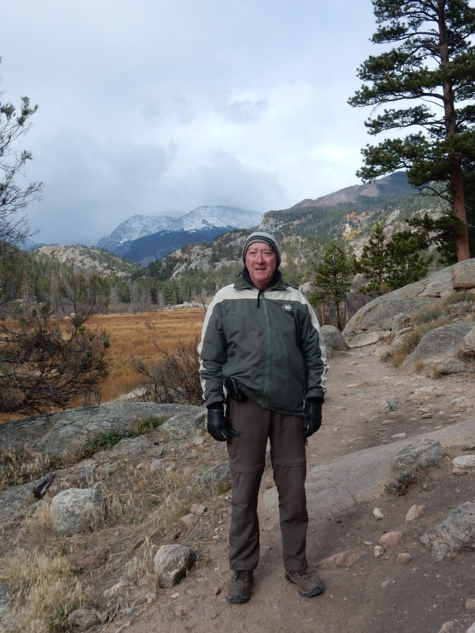 Ed on the Cub Lake Trail at Rocky Mountain National Park