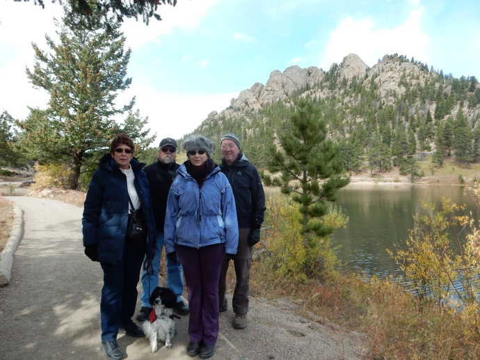 Jude, Tony, Bernie and Ed at Lily Lake, Rocky Mountain National Park.