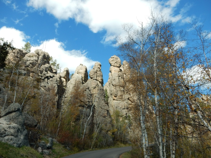 Rock spires along Needles Highway