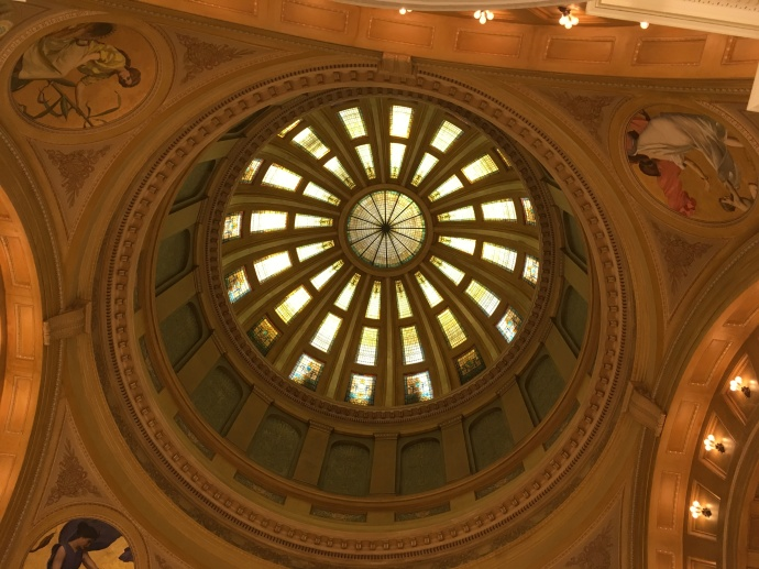 Interior shot of dome of SD State Capitol