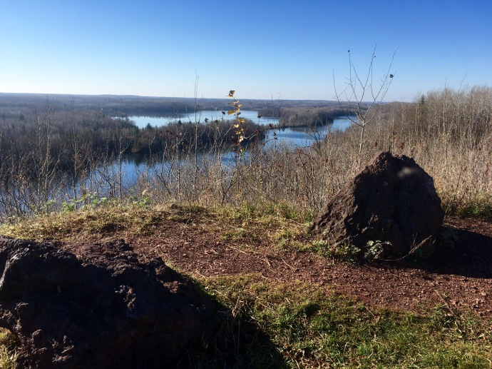 Looking down on Cuyuna Country Recreation Area from one overlook