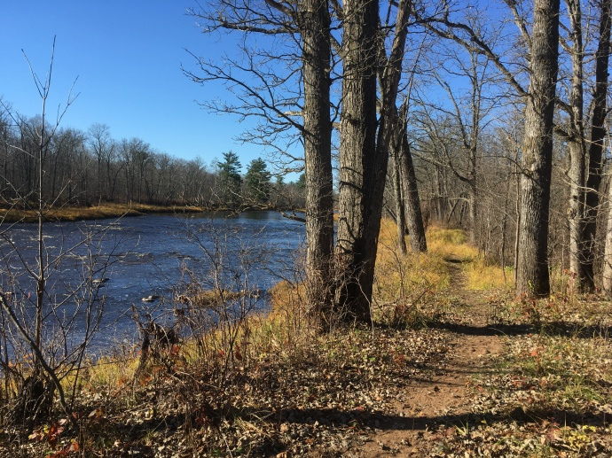 Hiking along the Kettle River at St. Croix State Park