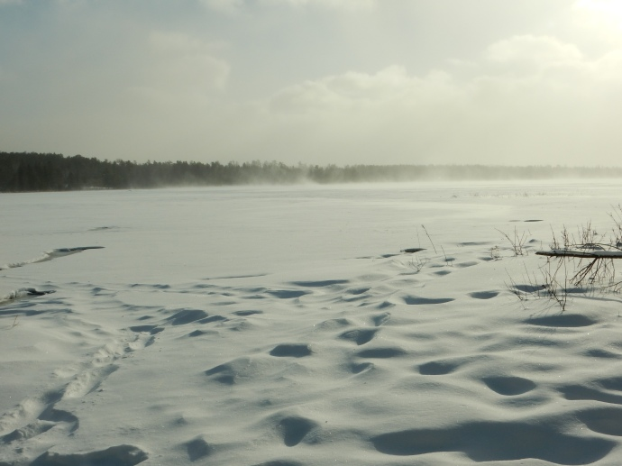 Lake Itasca with winds