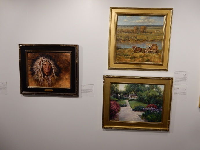 Three of Todd Williams' Paintings the the Nebraska History Museum