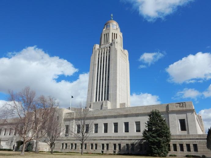 The Nebraska State Capitol in Lincoln